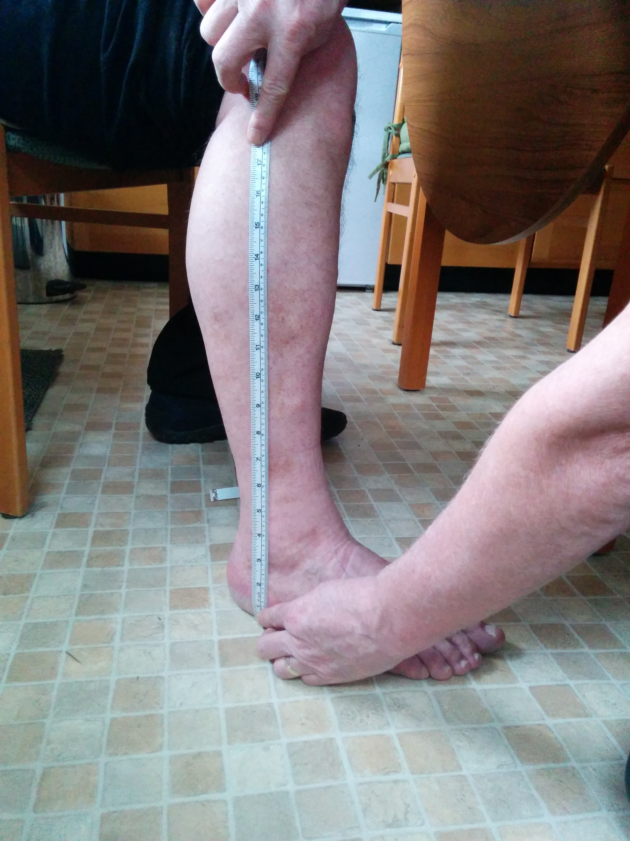 Length from floor to below-knee